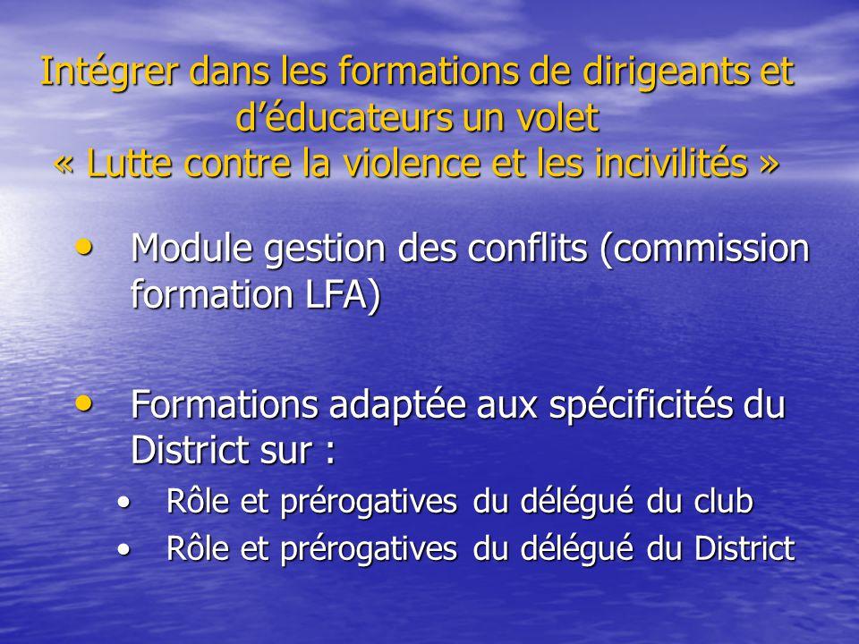 Module gestion des conflits (commission formation LFA)