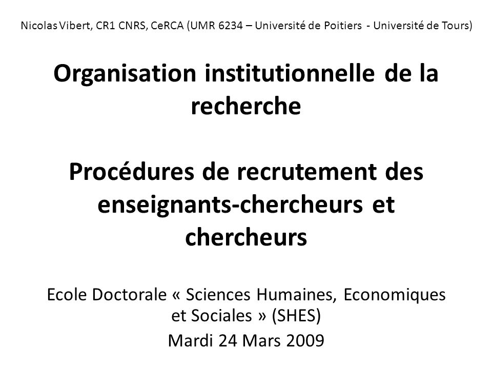 Ecole Doctorale « Sciences Humaines, Economiques et Sociales » (SHES)