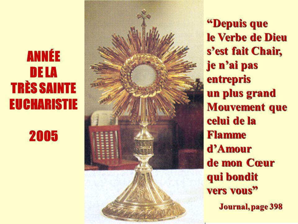 ANNÉE DE LA TRÈS SAINTE EUCHARISTIE 2005
