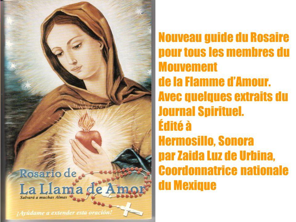 Nouveau guide du Rosaire pour tous les membres du Mouvement de la Flamme d'Amour.