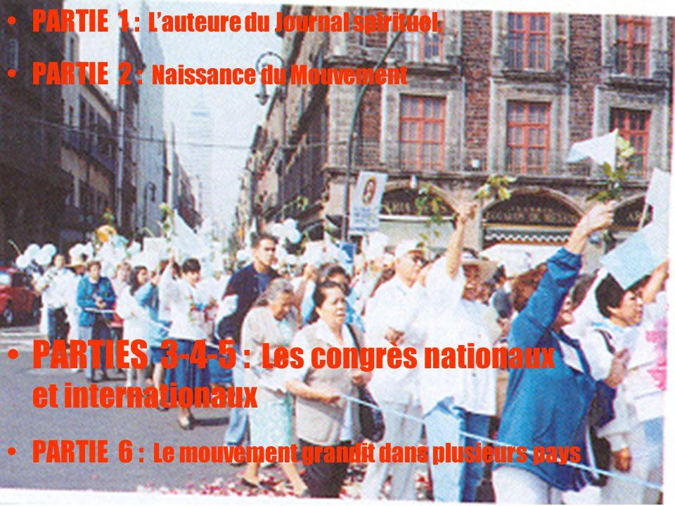 PARTIES 3-4-5 : Les congrès nationaux et internationaux