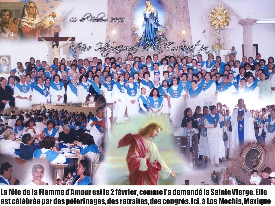 La fête de la Flamme d'Amour est le 2 février, comme l'a demandé la Sainte Vierge.