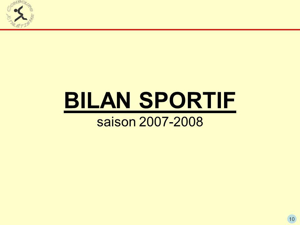 BILAN SPORTIF saison 2007-2008