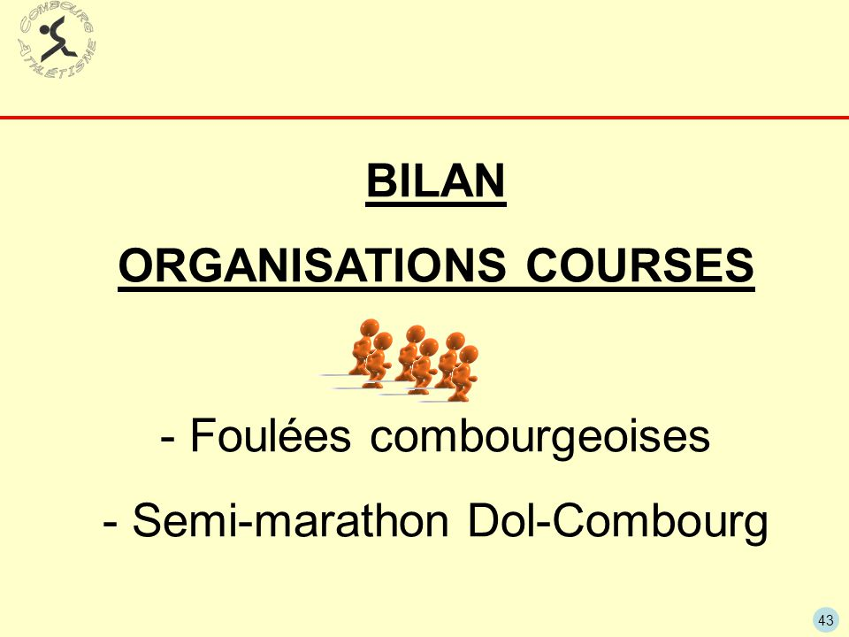 BILAN ORGANISATIONS COURSES - Foulées combourgeoises - Semi-marathon Dol-Combourg