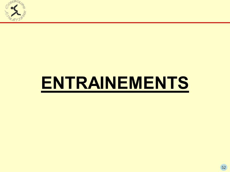 ENTRAINEMENTS
