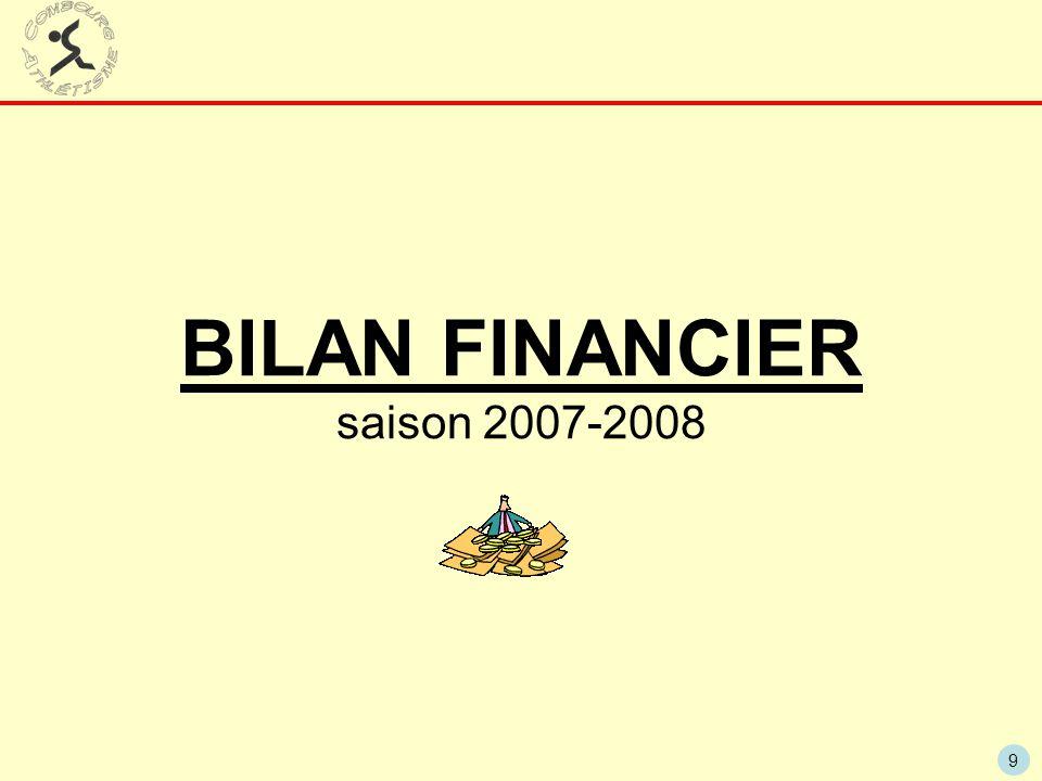 BILAN FINANCIER saison 2007-2008