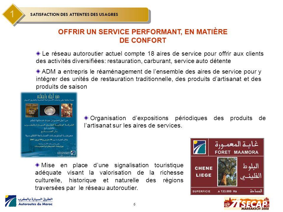 OFFRIR UN SERVICE PERFORMANT, EN MATIÈRE DE CONFORT