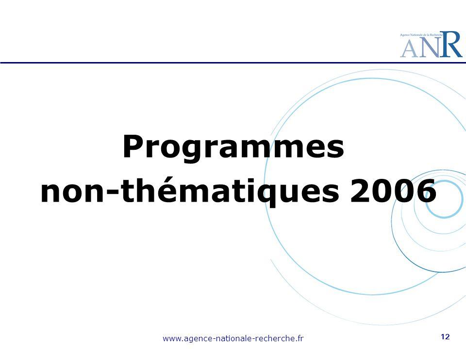 Programmes non-thématiques 2006