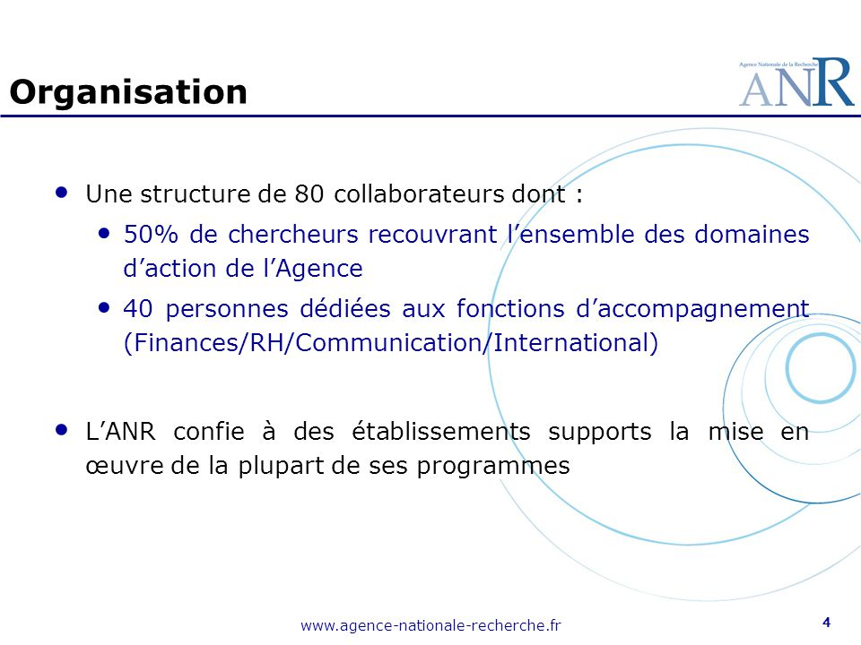 Organisation Une structure de 80 collaborateurs dont :