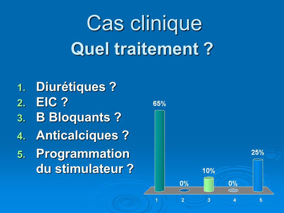 Cas clinique Quel traitement Diurétiques EIC B Bloquants