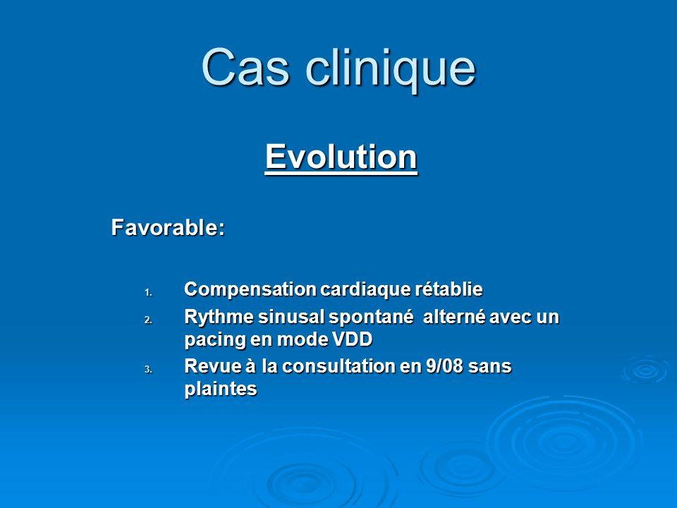 Cas clinique Evolution Favorable: Compensation cardiaque rétablie
