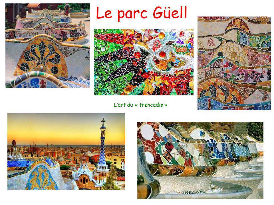 Le parc Güell L'art du « trencadis »