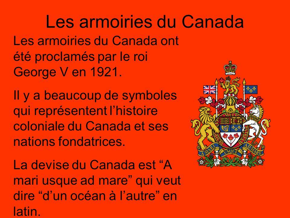 Les armoiries du Canada