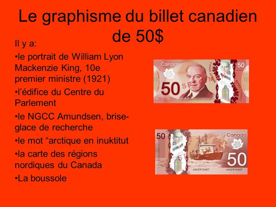 Le graphisme du billet canadien de 50$