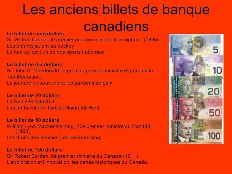 Les anciens billets de banque canadiens