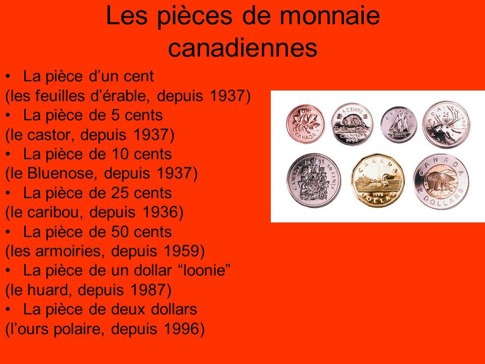 Les pièces de monnaie canadiennes