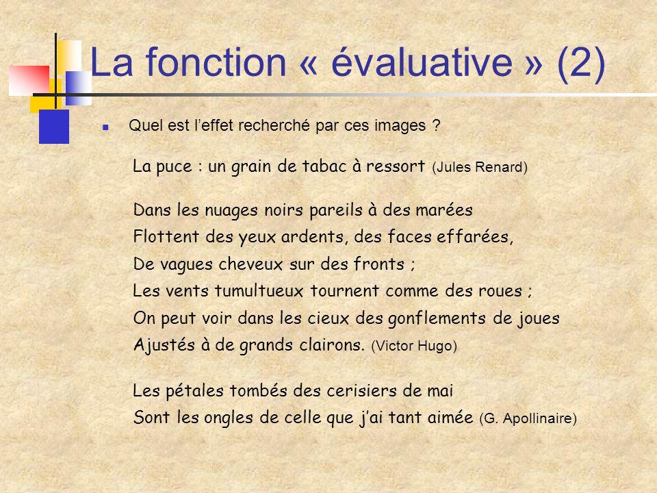La fonction « évaluative » (2)