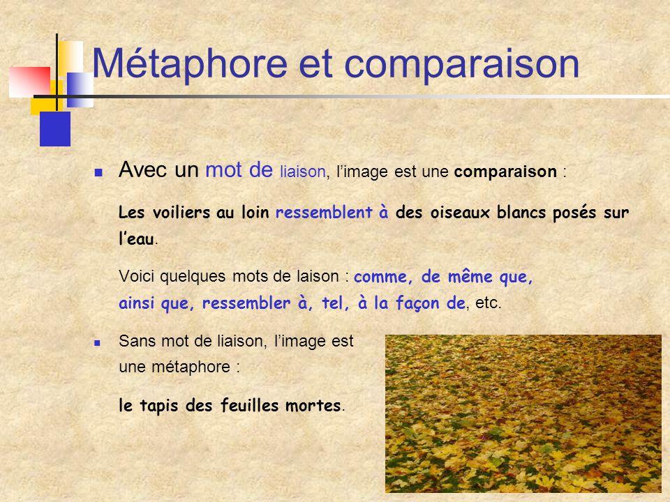 Métaphore et comparaison