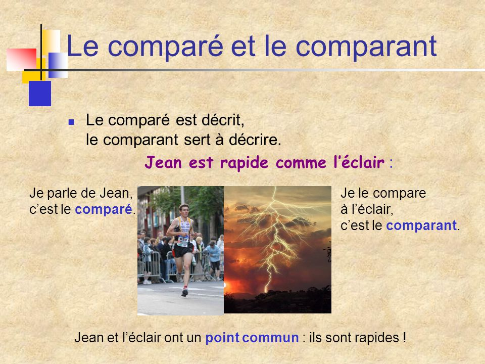 Le comparé et le comparant