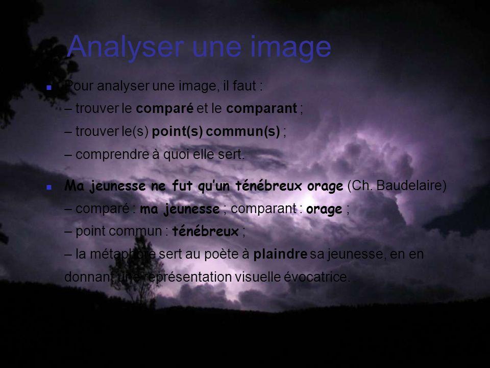Analyser une image