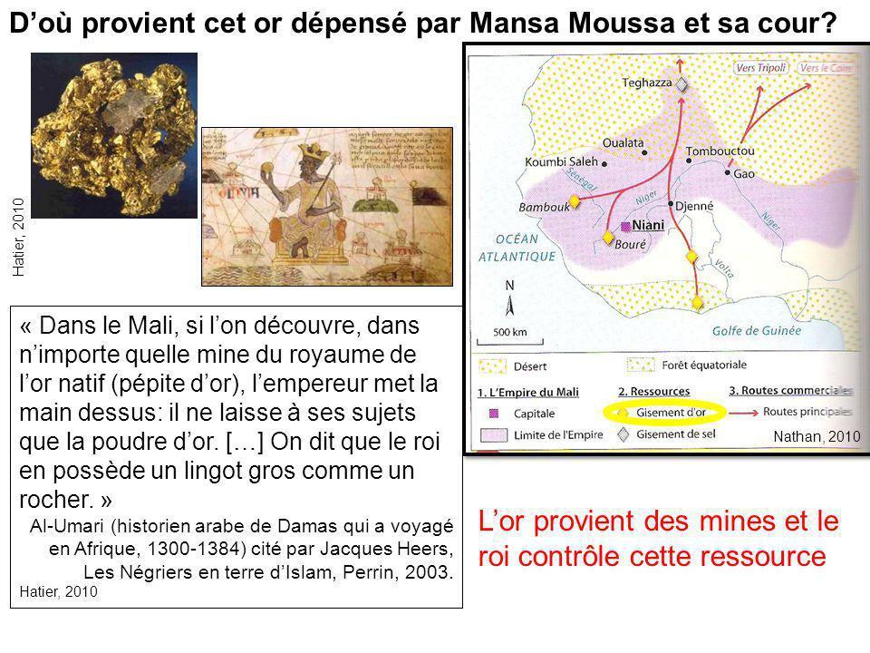 D'où provient cet or dépensé par Mansa Moussa et sa cour