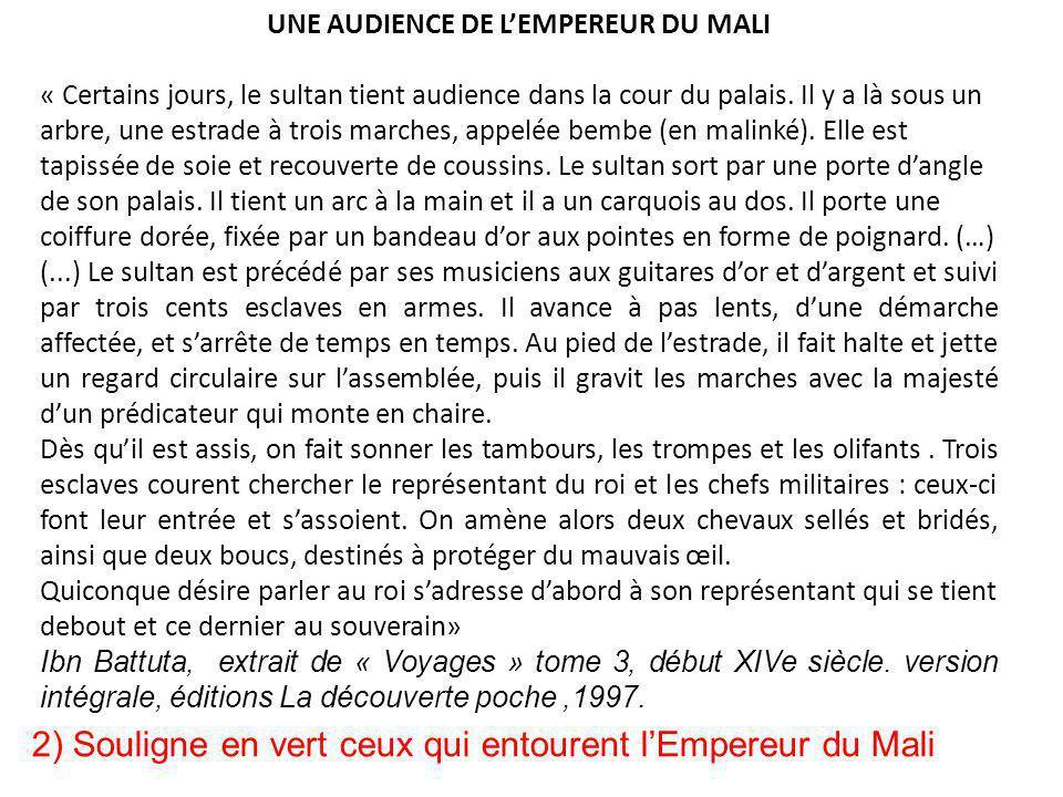 UNE AUDIENCE DE L'EMPEREUR DU MALI