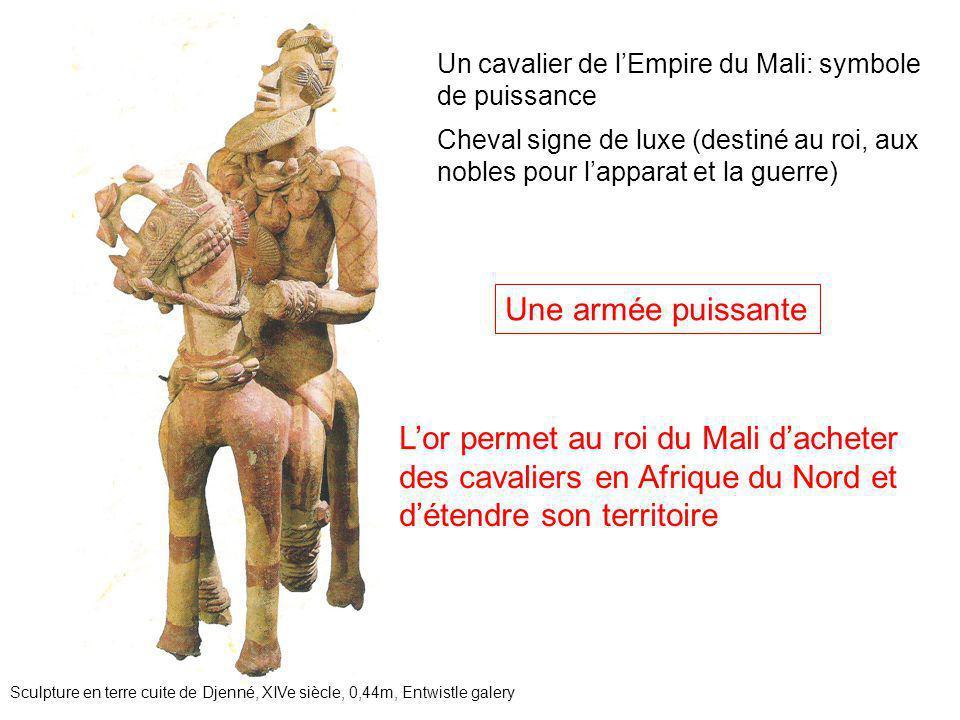 Un cavalier de l'Empire du Mali: symbole de puissance