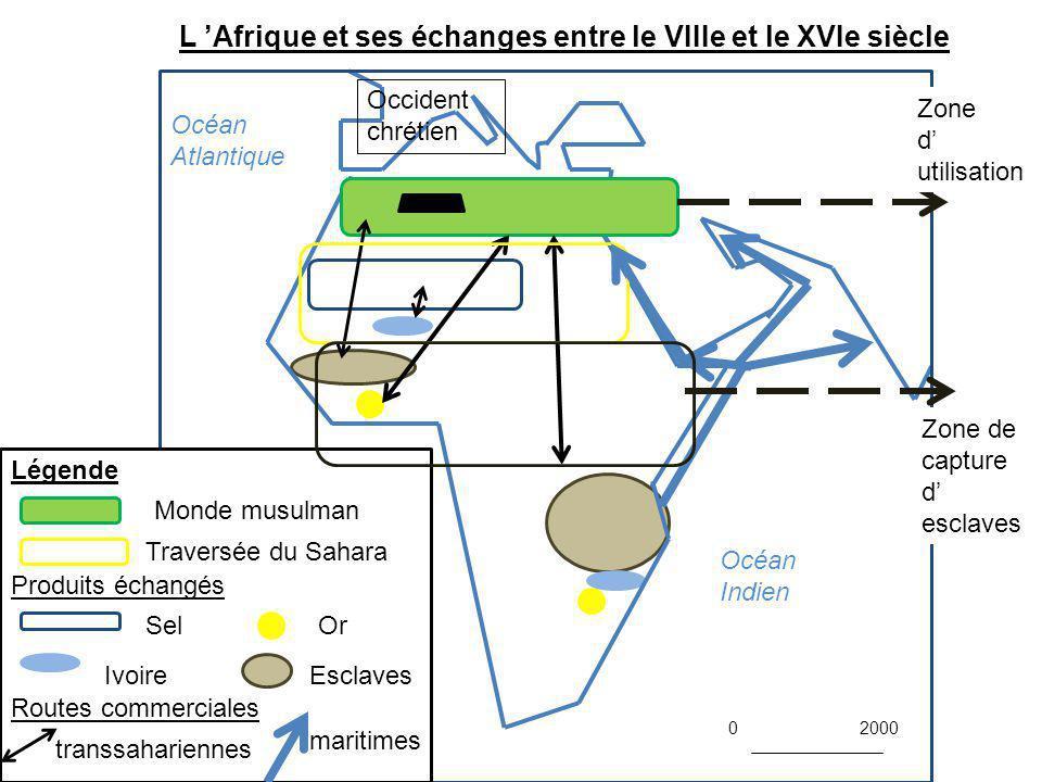 L 'Afrique et ses échanges entre le VIIIe et le XVIe siècle