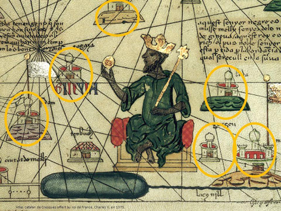 Atlas catalan de Cresques offert au roi de France, Charles V, en 1375.