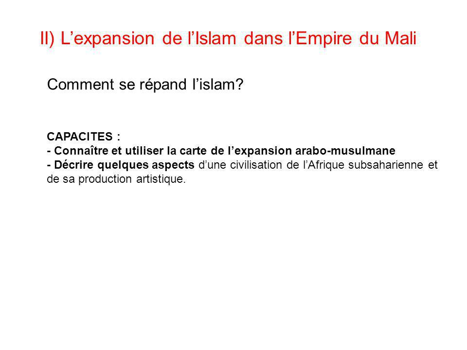 II) L'expansion de l'Islam dans l'Empire du Mali