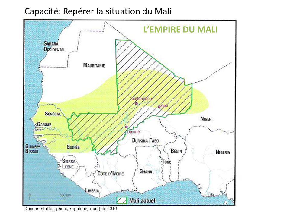 Capacité: Repérer la situation du Mali