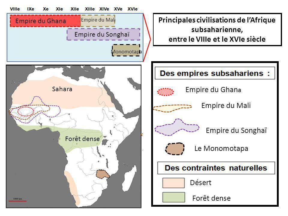 Principales civilisations de l'Afrique subsaharienne,