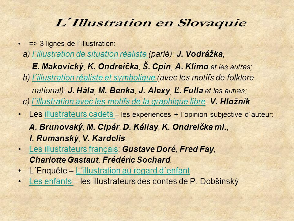 L´Illustration en Slovaquie