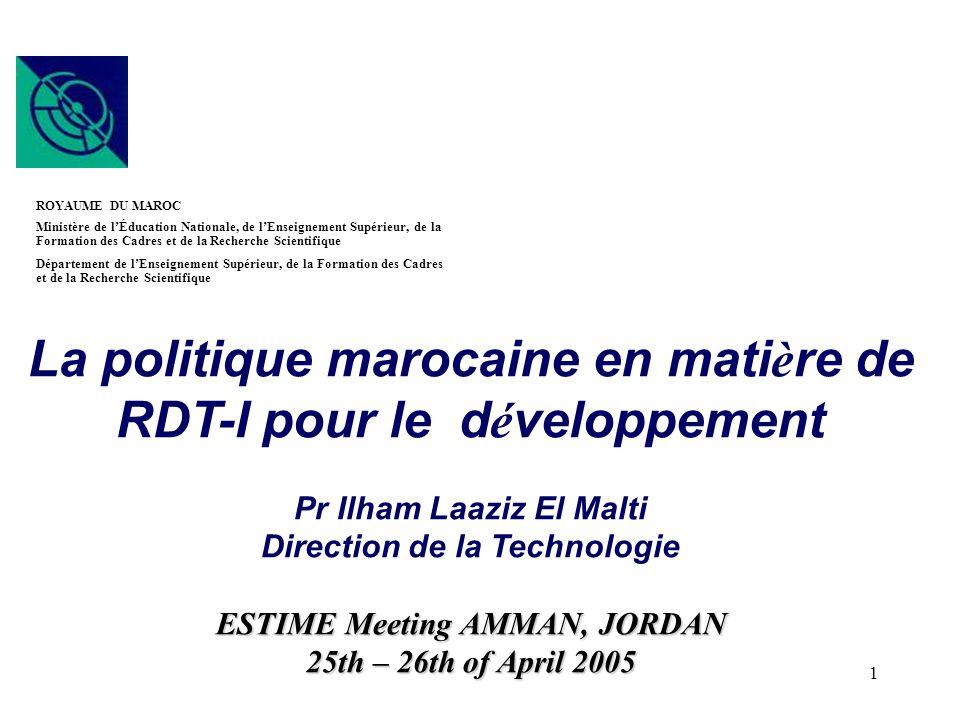 La politique marocaine en matière de RDT-I pour le développement