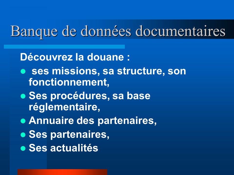 Banque de données documentaires