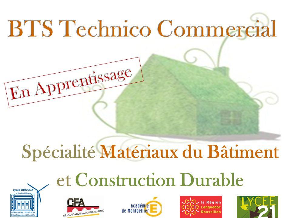 Spécialité Matériaux du Bâtiment et Construction Durable