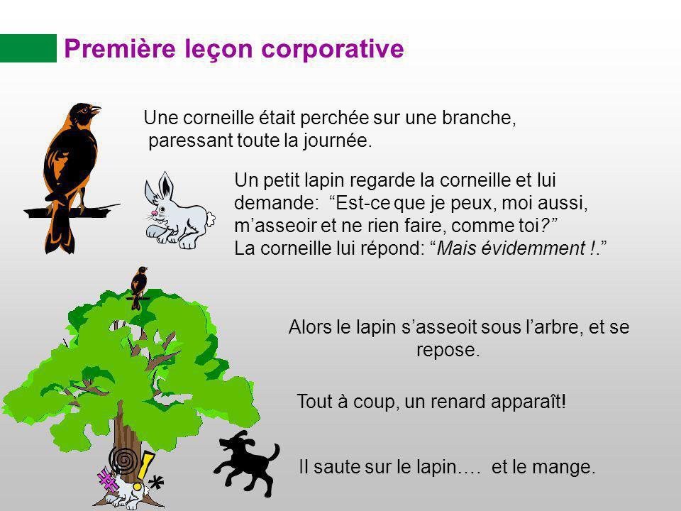 Première leçon corporative