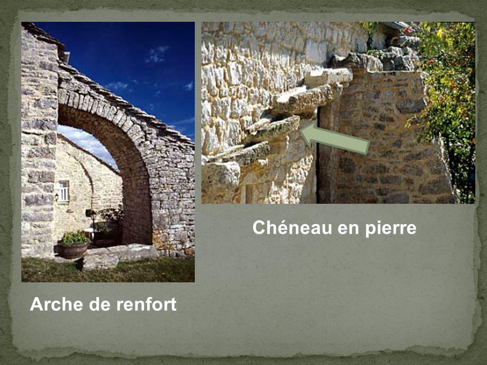 Chéneau en pierre Arche de renfort