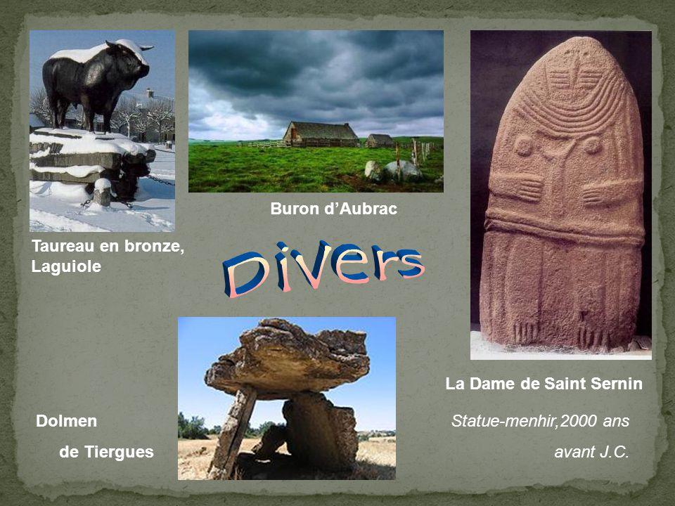 Divers Buron d'Aubrac Taureau en bronze, Laguiole