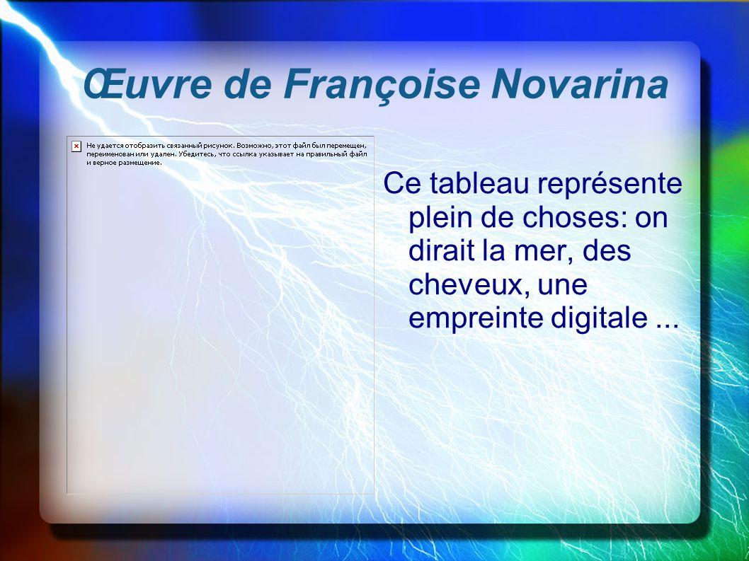 Œuvre de Françoise Novarina