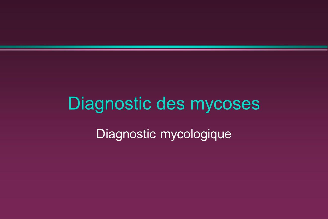Diagnostic des mycoses