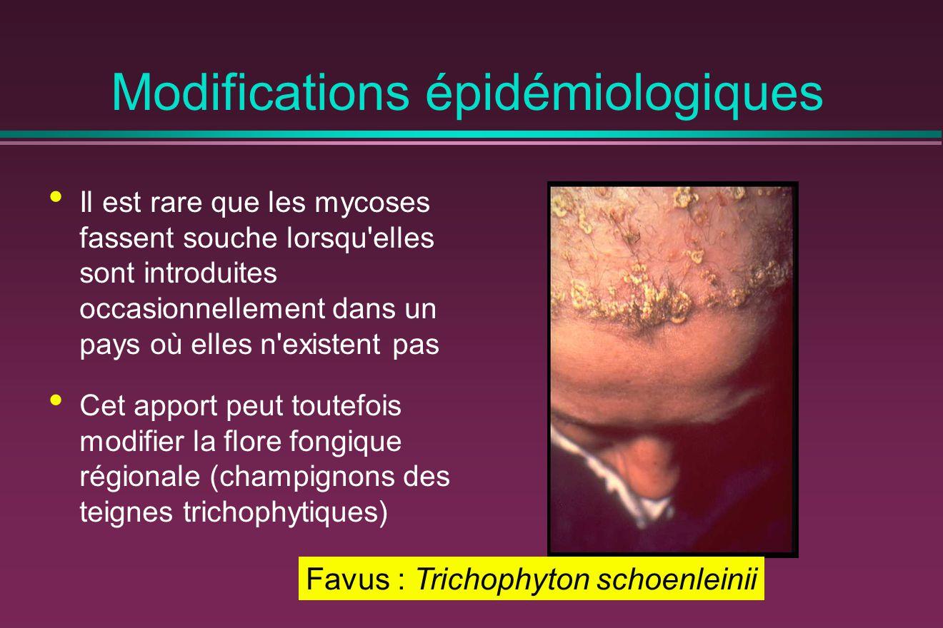 Modifications épidémiologiques