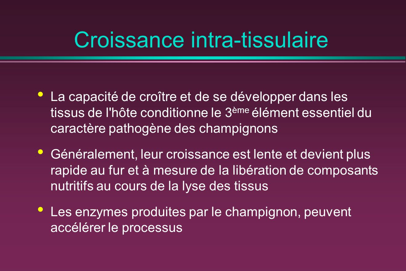 Croissance intra-tissulaire