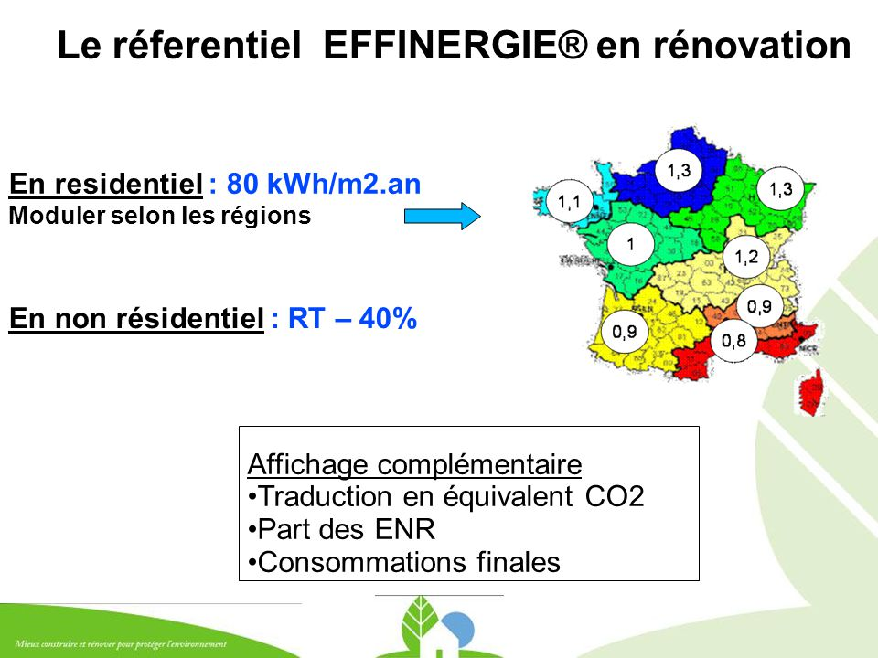 Le réferentiel EFFINERGIE® en rénovation