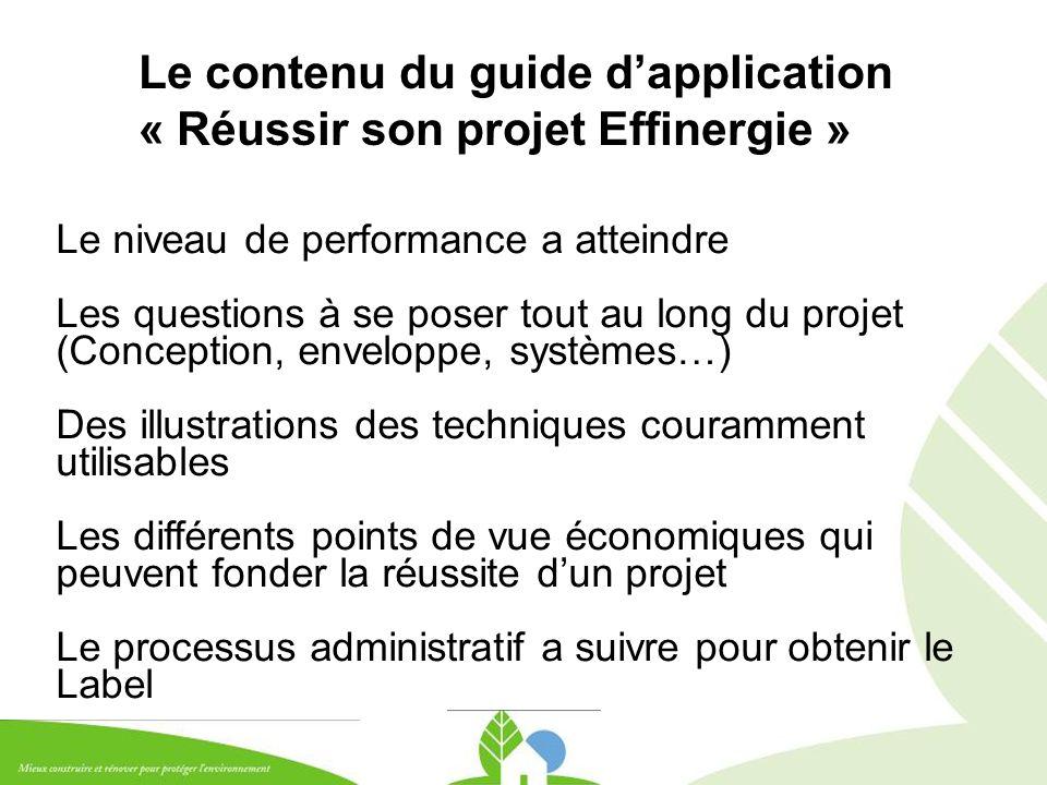 Le contenu du guide d'application « Réussir son projet Effinergie »