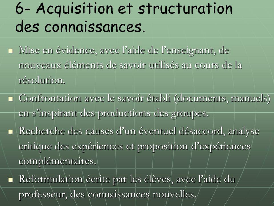 6- Acquisition et structuration des connaissances.