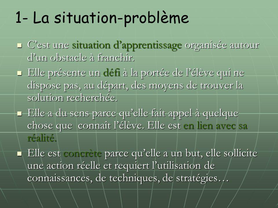 1- La situation-problème