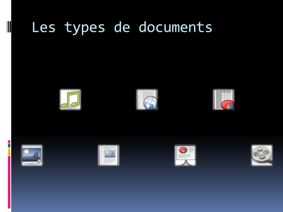 Les types de documents