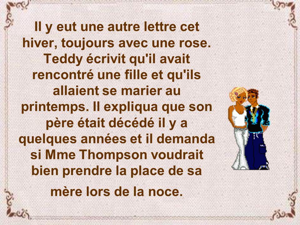 Il y eut une autre lettre cet hiver, toujours avec une rose