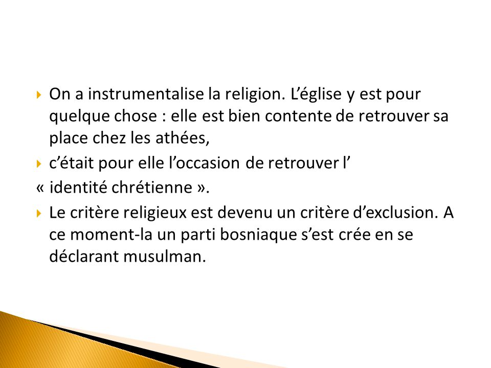 On a instrumentalise la religion